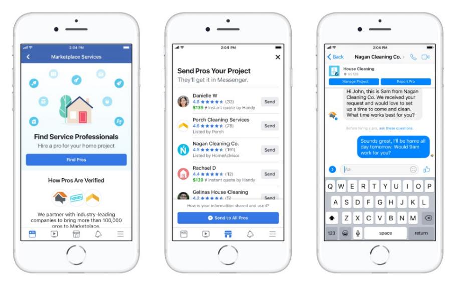 Facebook إضافة دليل الخدمات المنزلية الجديد إلى السوق | وسائل الاعلام الاجتماعية اليوم