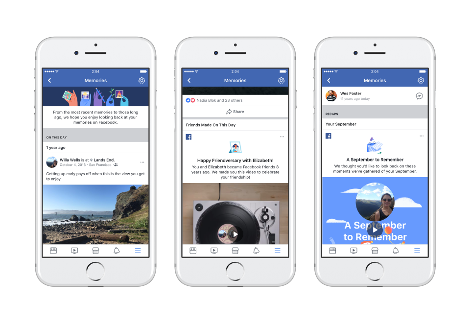 Facebook Adds New 'Memories' Section to Remind Users of the Good Times | Social Media Today