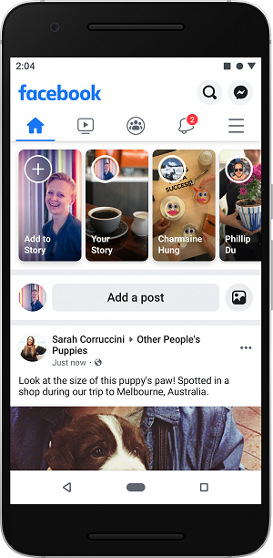 Facebook mobile app redesign