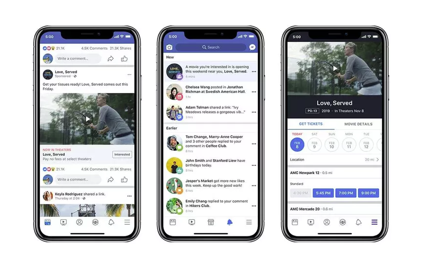 Facebook movie ads update
