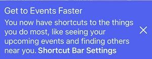 Facebook navigation bar notification