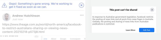 Facebook News in Australia