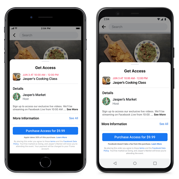Facebook paid events