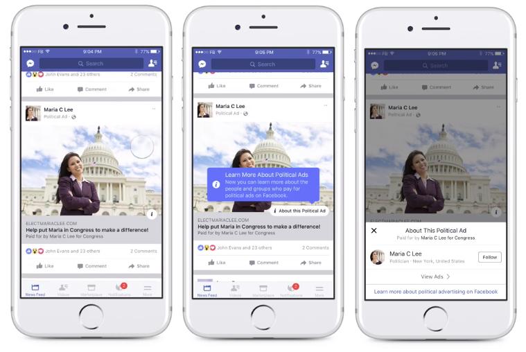 Facebook political ad disclosure