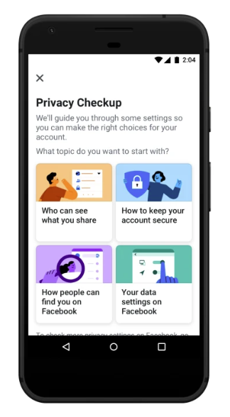 Facebook Privacy Check-Up