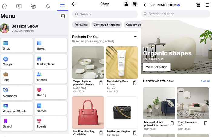 Facebook Shops UK