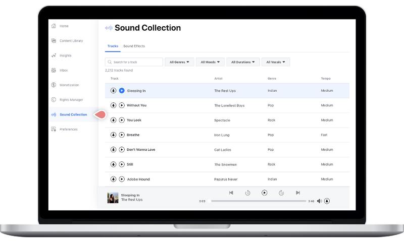 Facebook Sound Library