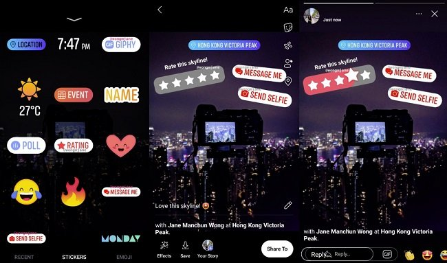 Facebook Stories stickers
