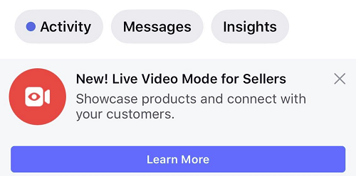 Facebook Live for sellers