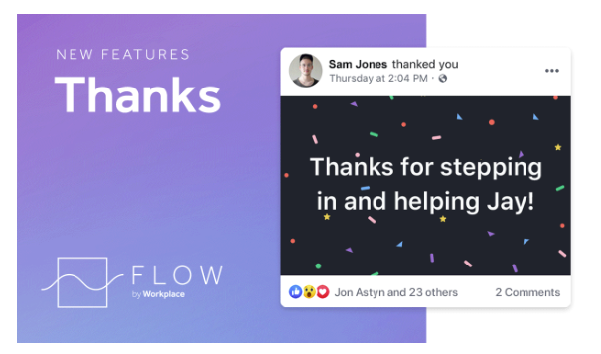 Facebook Workplace Thanks