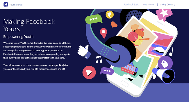 Facebook's Youth Portal