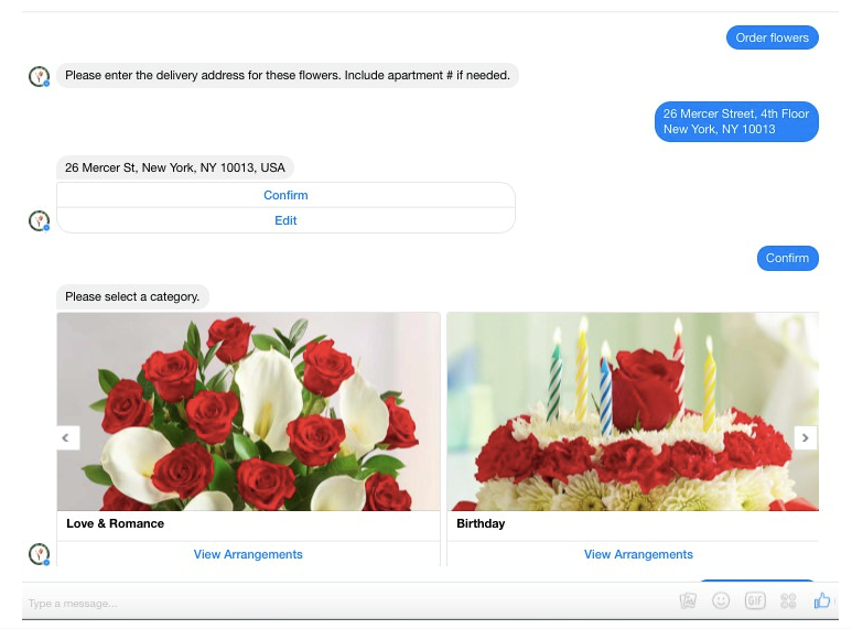 1-800 Flowers chatbot