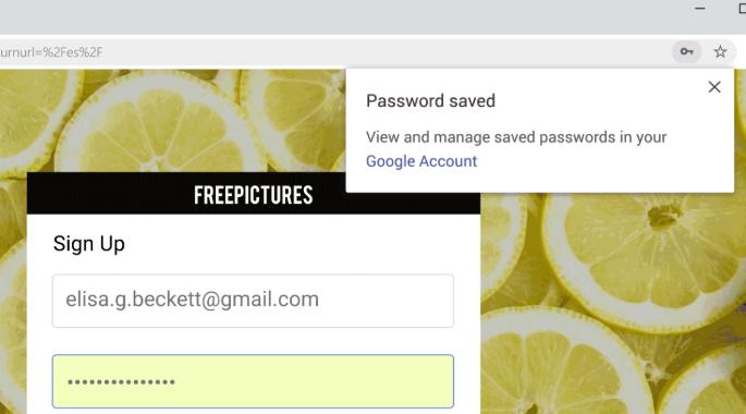 A screenshot of Google Chrome's password generator update