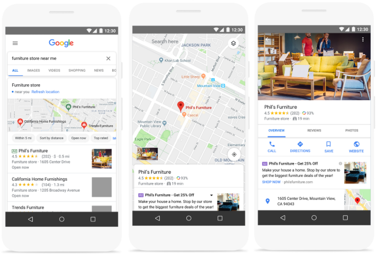 Google Local Campaigns ads