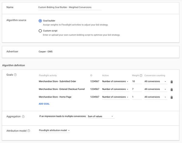 Google Floodlight Activities
