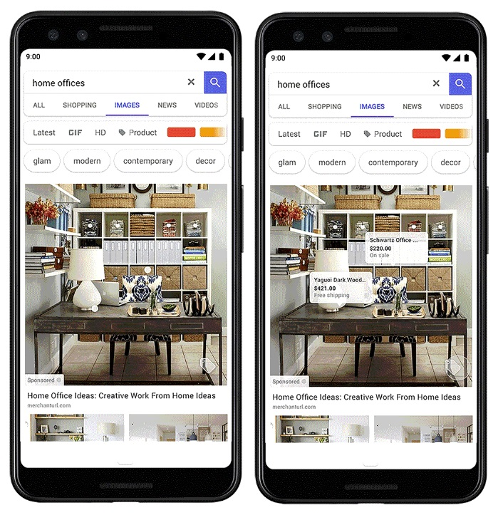Google Images product tags