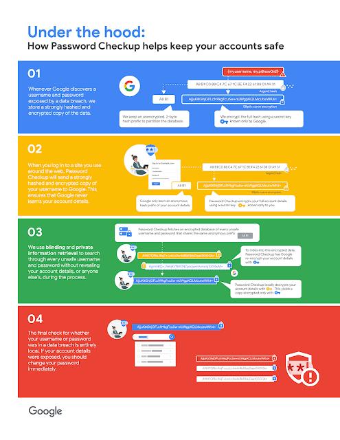 Google password check-up process