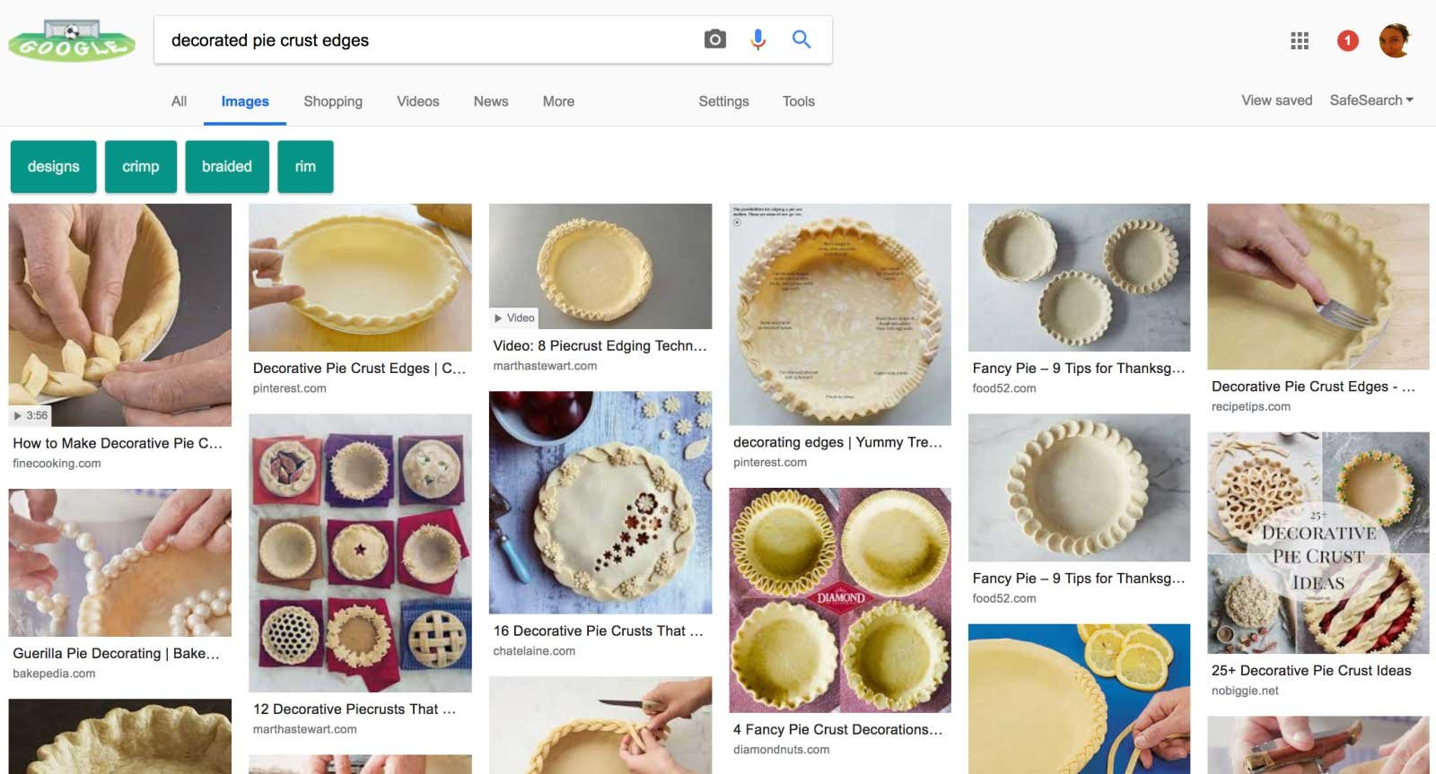 Google's Pinterest-like image search layout