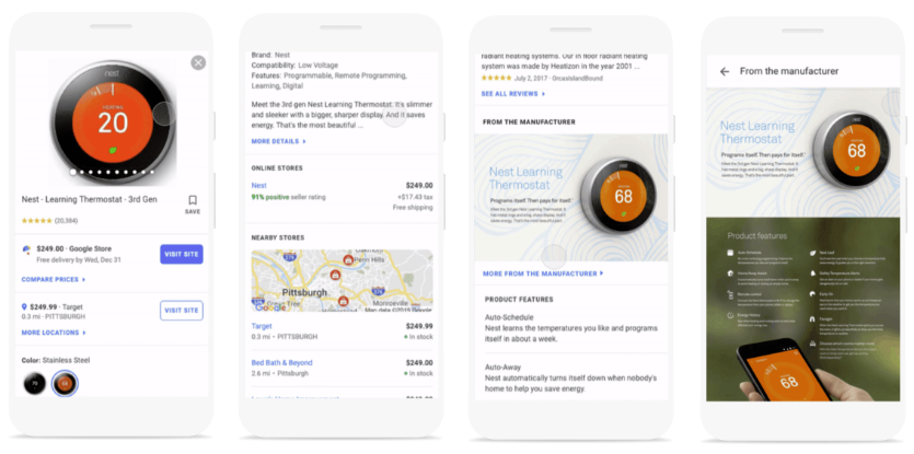 Google product listing update