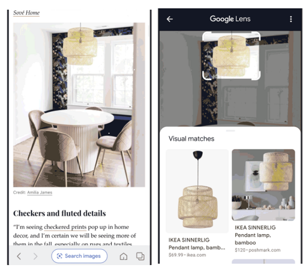 Google Lens Search in Stream