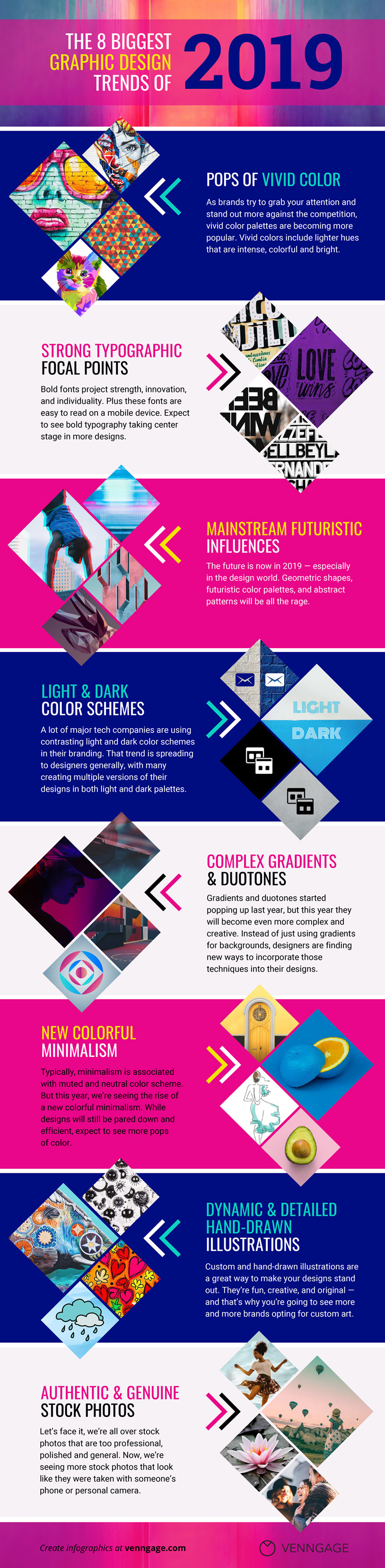 2019 design trends infographic