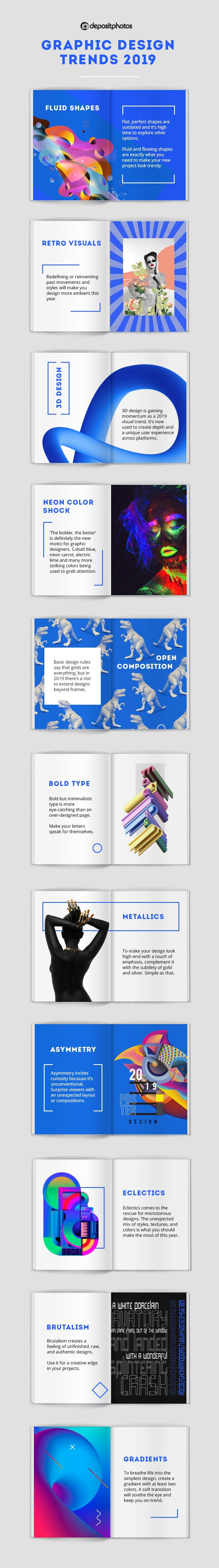 Infograhic lists 11 key design trends of note for 2019