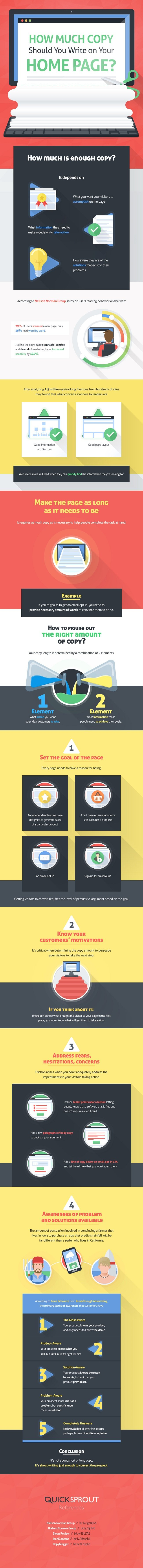 Infographic looks at how much text you should have on your homepage
