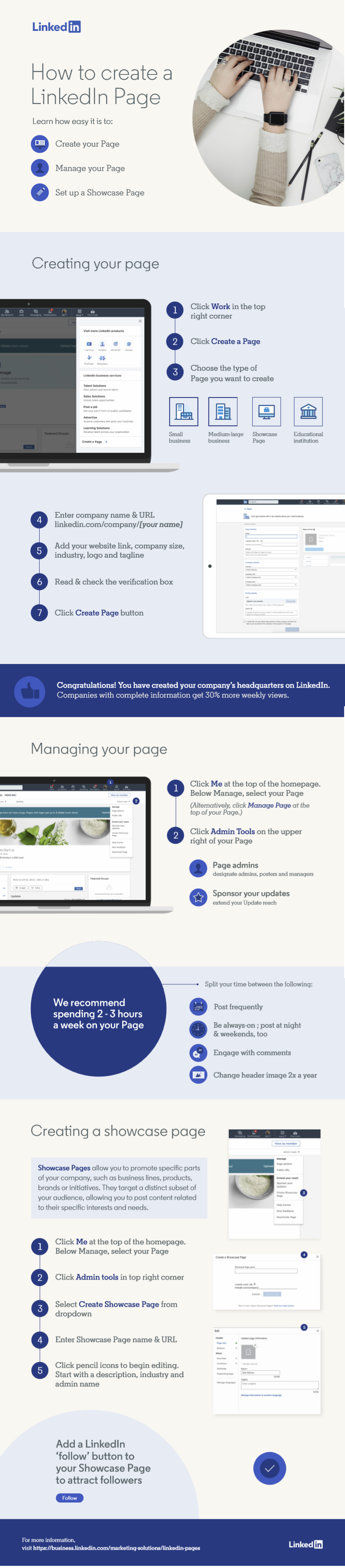 Infographic outlines essential Linkedin company page tips