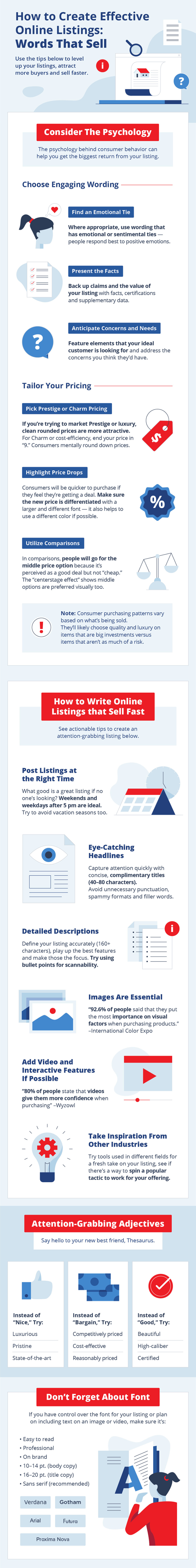 How to create online listings that sell