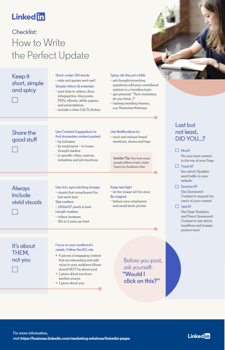 LinkedIn posting best practices infographic