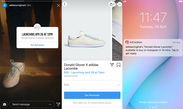Instagram product reminders