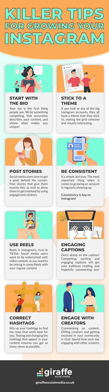 Instagram tips infographic