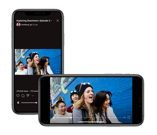 Instagram Introduces A Landscape Mode For IGTV • Featured, Instagram