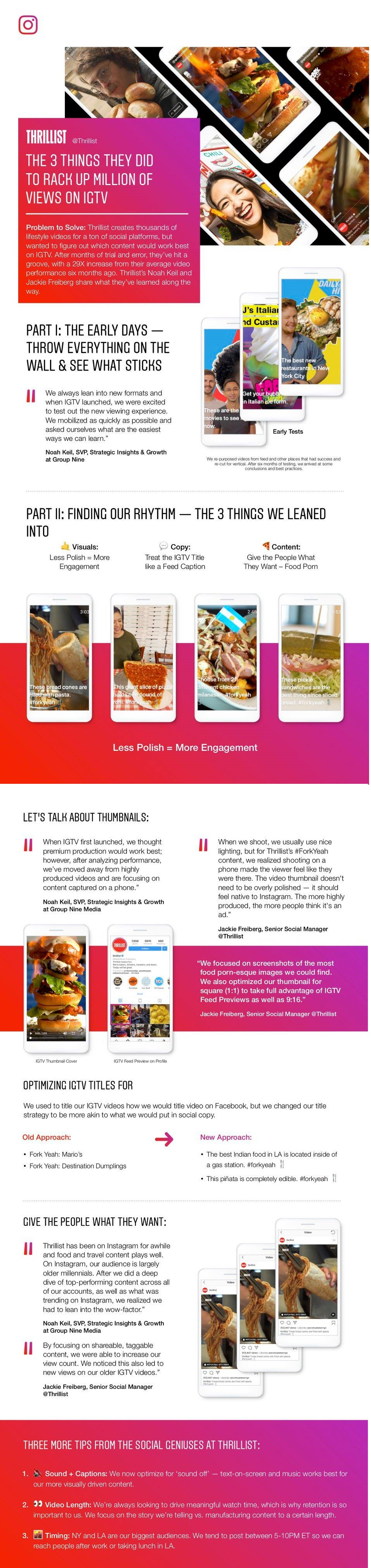 Infographic lists IGTV tips