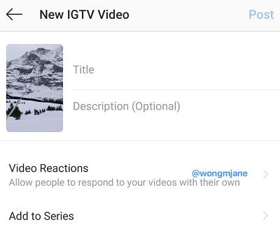 IGTV response video