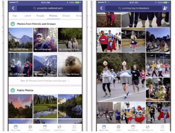 An example of image recognition tools on Facebook