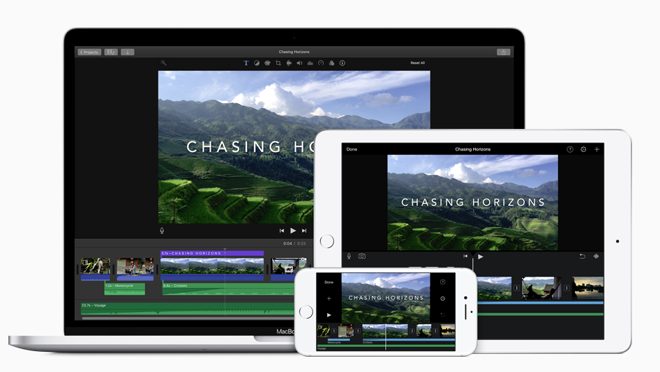 iMovie screenshots