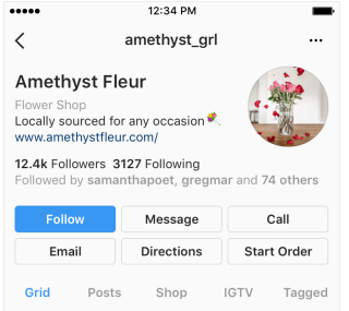 Instagram business profiles update