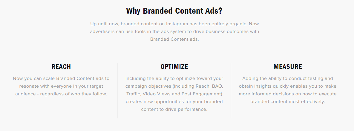 Instagram Branded Content ads explainer graphic