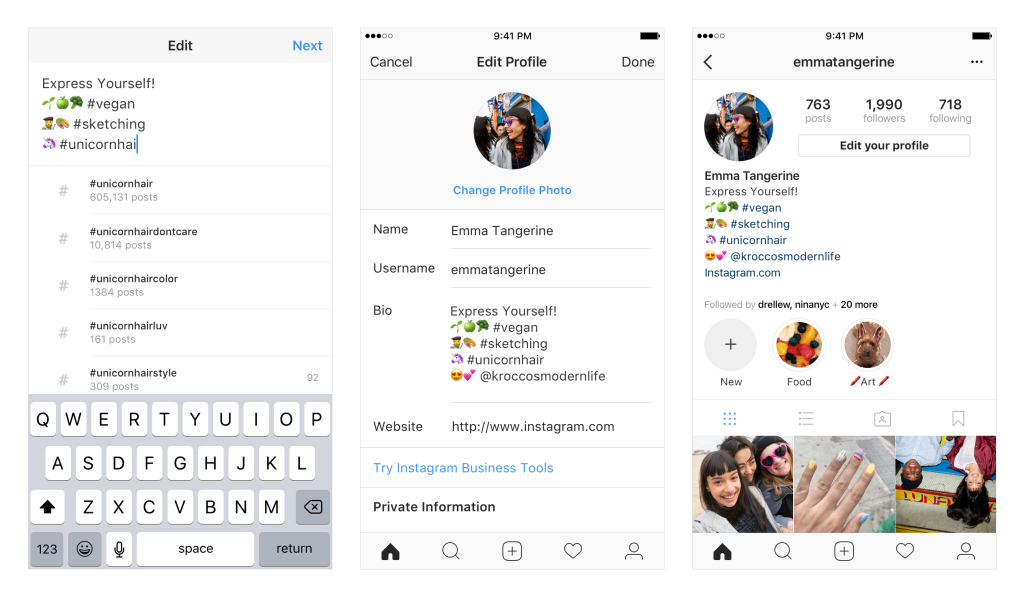 Instagram Will Now Allow Active Links to Other Profiles, Hashtags in Bios | Social Media Today