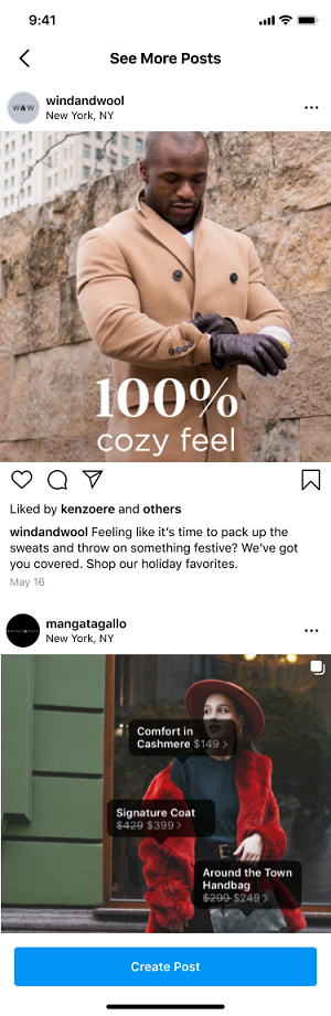 Inspiration from the Instagram brand