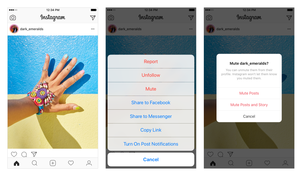 Instagram Rolls Out Option to Mute Profiles