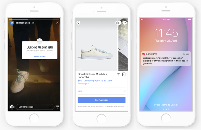 Instagram product launch tags