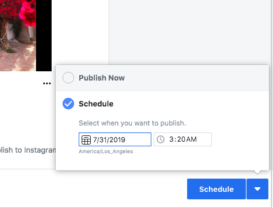 Instagram scheduling example