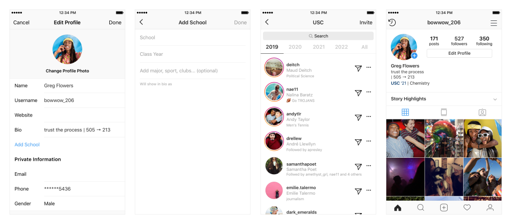 Instagram School Communities screenshots