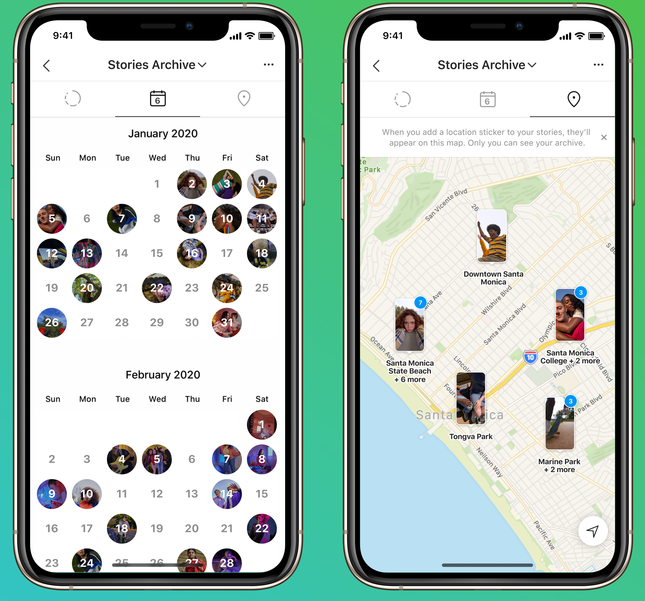 Instagram Stories map