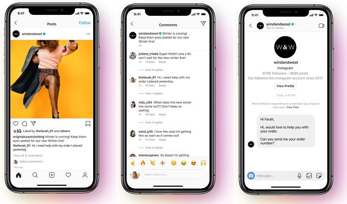 API обмена сообщениями Instagram