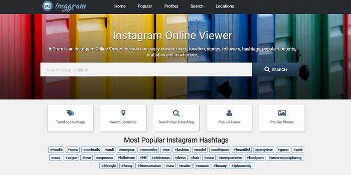 Instagram clone site