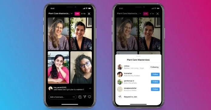 Instagram Live multi-participant example