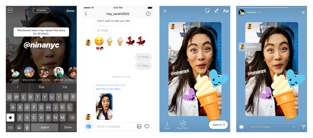Instagram Rolls Out '@Mention Sharing', a New Way Share Stories Content